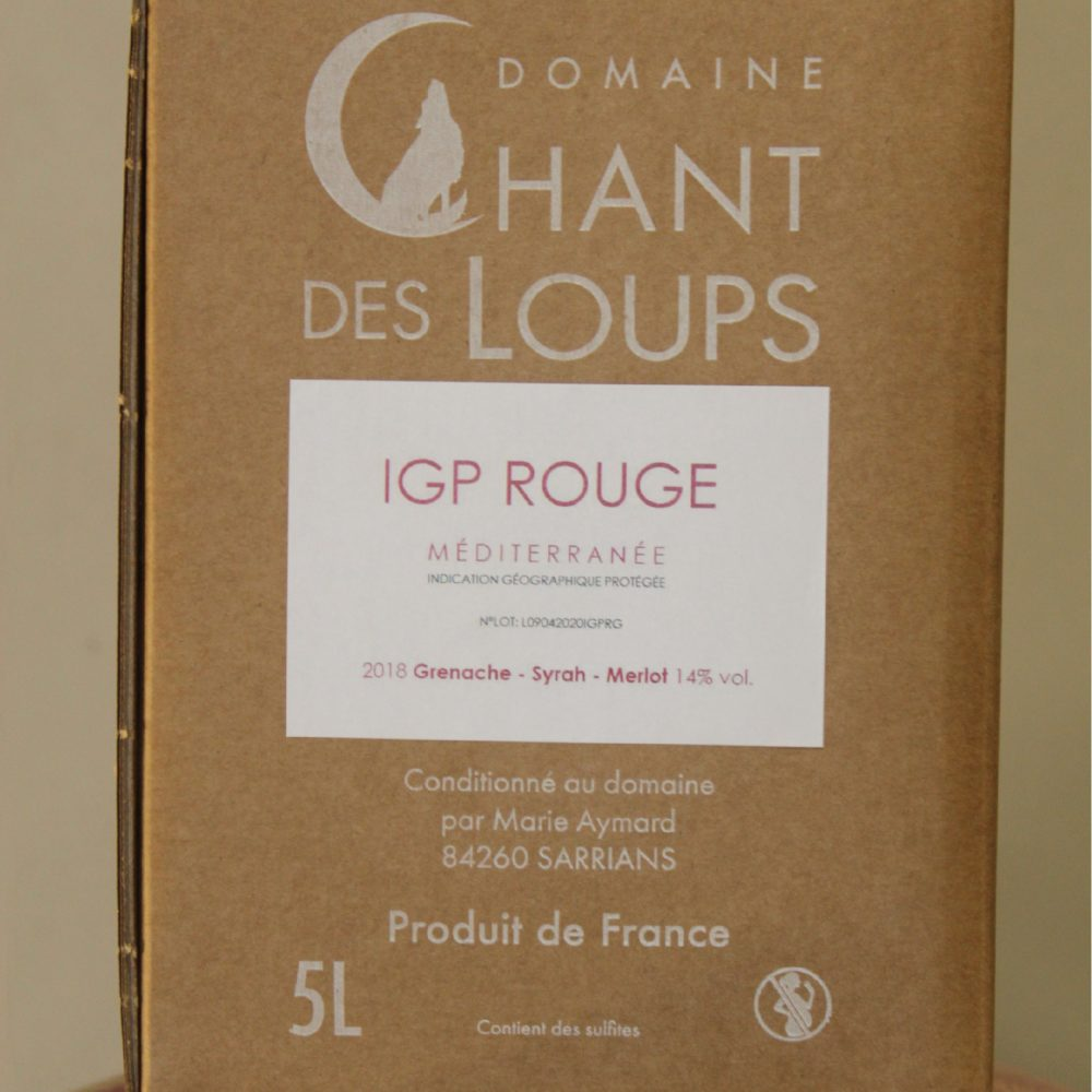 Bag in Box 5L IGP rouge