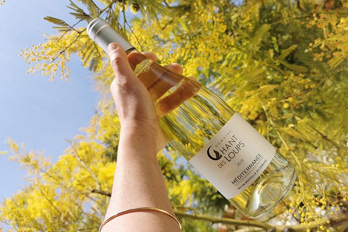 Bouteille de vin IGP blanc Chant des Loups