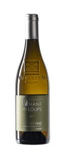 bouteille détourée Vacqueyras vin blanc BIO chant des loups