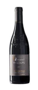 :bouteille détourée vacqueyras vin rouge BIO chant des loups